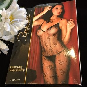 New Floral Lace Bodystocking! 🌹